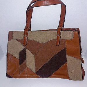 Urban Expressions Brown Black Tan Shoulder Bag